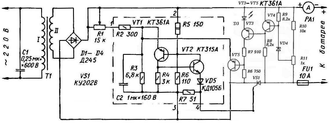 Схема зу для автомобильного аккумулятора